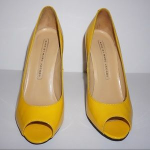 Marc by Marc Jacobs | Yellow Peep Toe Heels